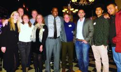 Scholarship committee withTito Jackson,center,and former recipientAlex Maizonett, second from right. Photo by Michele Maniscalco