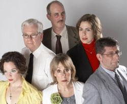 The cast of Zeitgeist Stage Company's Private Fears in Public Places.