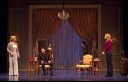 Maureen Anderman, Seth Fisher, Wendy Hoopes, Eli James, and Keira Naughton in Becky Shaw.