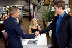 """Tom Hardy, Reese Witherspoon and Chris Pine in """"This Means War"""""""