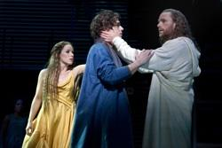 """Chilina Kennedy, Josh Young, and Paul Nolan in """"Jesus Christ Superstar"""""""