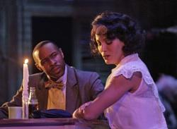 """Mitch (Harris) and Blanche (Nicole Ari Parker) on a date in """"A Streetcar Named Desire"""""""