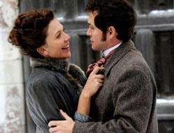 '... or are you just glad to see me?' Maggie Gyllenhaal and Hugh Dancy star in 'Hysteria'