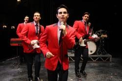 "Jason Kappus, Brad Weinstock, Colby Foytik and Brandon Andrus sing ""Sherry"" in ""Jersey Boys"""