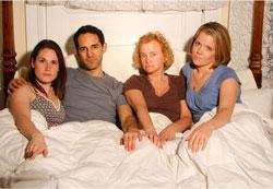 "Scarlett Redmond, Nael Nacer, Sabrina Dennison and Jacqueline Emmart in ""Love Person"""