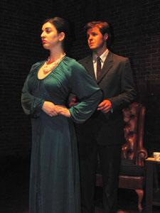"Robyn Linden and Nick Miller star in ""The American Plan,"" continuing through June 16 at The Factory Theatre"