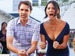 Paul Schneider and Olivia Munn