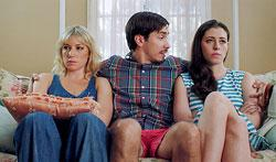 """Ari Graynor, Justin Long and Lauren Anne Miller in """"For A Good Time, Call..."""""""