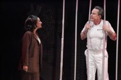 Christine Lakin and Davis Gaines in 'Silence! The Musical'