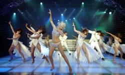 The cast of 'Dancing Queen' at New York New York hotel