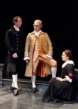 Matthew Bellows as Angelo, Christopher Salazar as Duke Vincentio and Whitney Wakimoto as Isabella