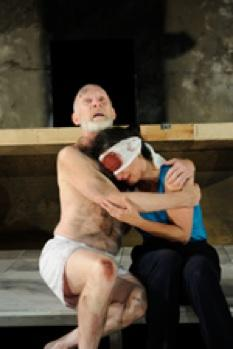 Brian McEleney as the aging monarch Lear and Phyllis Kay as Gloucester in Shakespeare's sweeping tragedy 'King Lear'