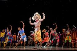 Jelani Remy as Simba and the ensemble in 'He Lives in You'