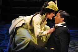 Manna Nichols as Eliza Doolittle and Nicholas Rodriguez as Freddy Eynsford-Hill