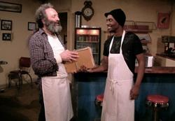 Richard Cotovsky and Preston Tate, Jr. in 'Superior Donuts'