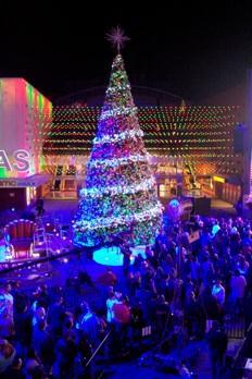 Last year's tree lighting at Universal Studios