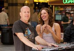 Bruce Willis and Rebecca Hall