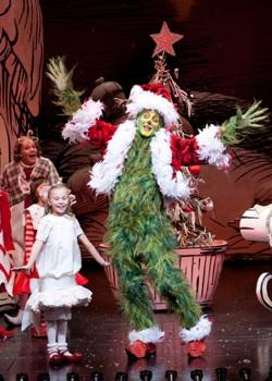 Lilith Freund as Cindy-Lou Who and Steve Blanchard as The Grinch