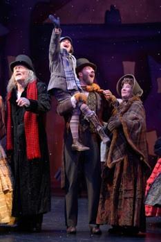 The cast of 'A Christmas Carol' at A.C.T.