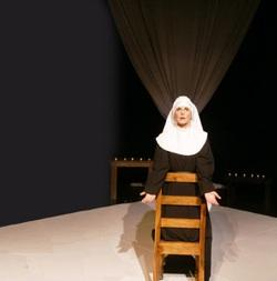 Christina Groom plays a nun charged with killing her newborn in New Theatre's 'Agnes of God'