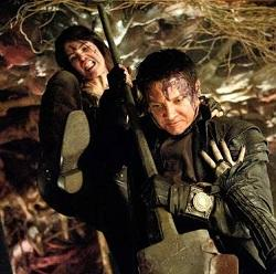 "Gemma Arterton and Jeremy Renner in ""Hansel & Gretel: Witch Hunters'"""