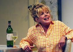 DeeDee Rescher as 'Shirley' in 'Shirley Valentine'