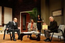 Christopher Swan, Damron Russel Armstrong, Nakeisha Daniel and Sean McGuirk portray Jack Lawson, Henry Brown, Susan and Charles Strickland in the Rhode Island premiere of David Mamet's provocative play 'Race'