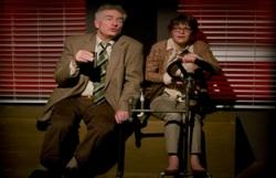 Peter Brouwer as Collins and Susan Louise O'Connor as Louise Finch in Elisabeth Karlin's 'Bodega Bay'