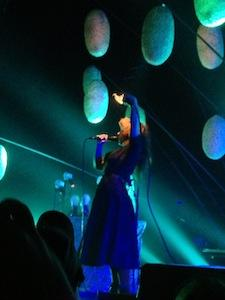 Purity Ring's Megan James at Boston's House of Blues