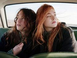 Alice Englert and Elle Fanning in 'Ginger and Rosa'