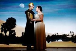 Randall Bills and Siân Davies as Osiride and Elcia