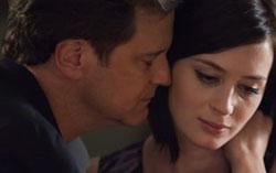 Colin Firth and Emily Blunt in a scene from Cinedigm's ARTHUR NEWMAN