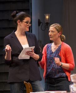Kate Shindle and Annie McNarmara star in 'Rapture, Blister, Burn,' continuing at the BCA through June 30