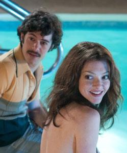 Amanda Seyfried and Adam Brody in a scene from 'Lovelace'