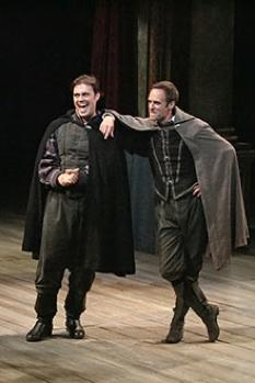 John Lavelle as Rosencrantz and Jay Whittaker as Guildenstern
