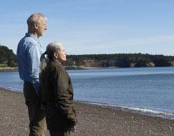 James Cromwell and Geneviève Bujold in a scene from 'Still Mine'