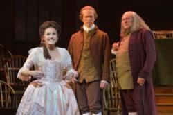 Andrea Prestinario (Martha Jefferson), John Hickok (John Adams) and Andrew Boyer (Benjamin Franklin)