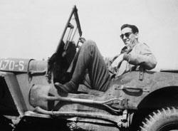 A photo of J.D. Salinger from the documentary, 'Salinger'