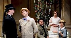 Brian Mackey, JorDan Miller, David Cochran Heath, Rachael VanWormer, Maggie Carney in 'Earnest' at Cygnet Theatre