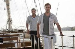 Ben Affleck and Justin Timberlake in a scene from 'Runner Runner'