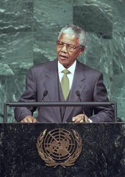 South African President Nelson Mandela in 1994.