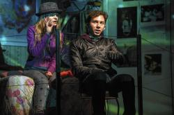 Aaron Himelstein (right) and Melanie Neilan in Steppenwolf Theatre Company's 'Russian Transport'
