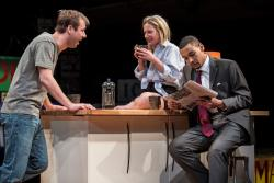 Shane Kenyon (Don), Lee Stark (Suzy) and Eric Lynch (Jackson) in 'Buzzer' by Tracey Scott Wilson