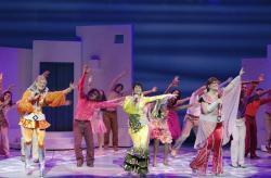 The touring cast of 'Mamma Mia!'