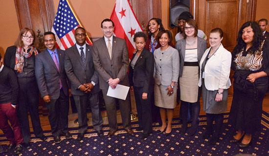 D.C. Mayor Vincent Gray announces steps to protect GLBT community from discrimination in health care, Feb. 27, 2014