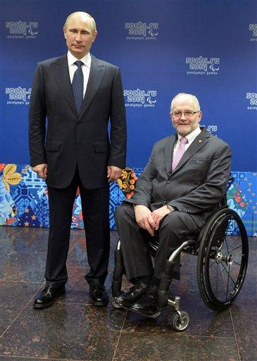 Russian President Vladimir Putin, left, and International Paralympic Committee President Philip Craven