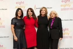 Event Co-Chair Tami Schneider, CEO Audrey Weiner, Event Co-Chair Marcia Riklis, honoree Edie Windsor