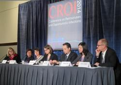PrEP researchers Walid Heneine, Gerardo Garcia-Lerma,  Peter Anton, and Craig Hendrix during a 2011 CROI panel