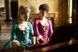 Sarah Gadon and Gugu Mbatha-Raw in a scene from 'Belle'