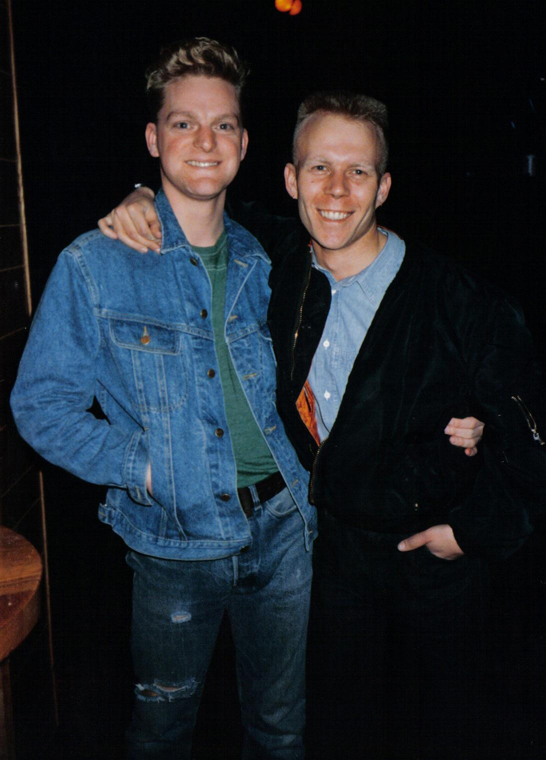Andy Bell and Vince Clarke (Erasure) in 1986